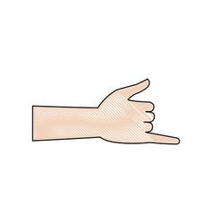 Hand shaka aloha gesture symbol vector