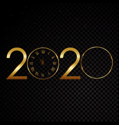 happy new year gold text design vector image
