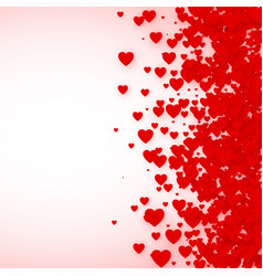 heart confetti frame for banner st valentines day vector image