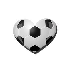 heart shape soccer ball icon image vector image