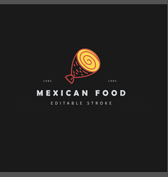 icon and logo for mexican food vector image