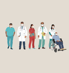 Indian medics medical characters doctor vector