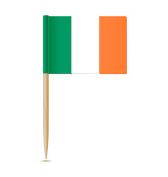 ireland flag toothpick 10eps vector image