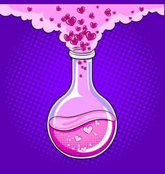 Love potion pop art vector