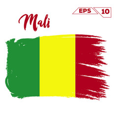 mali flag brush strokes painted vector image