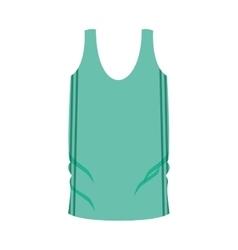 Man undershirt green with vertical lines vector