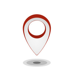 map pointer icon isolated on white gps location vector image