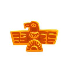 Maya civilization symbol ancient totem bird vector