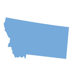 montana state map vector image