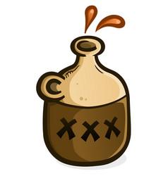 Moonshine jug icon vector