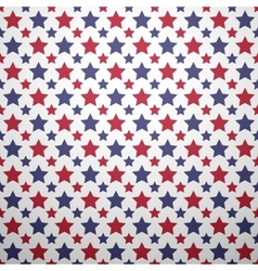 Patriotic red white and blue geometric seamless vector image