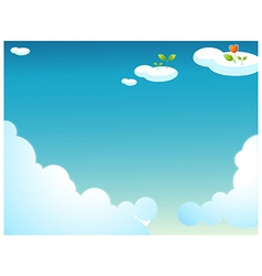 Plants on clouds vector