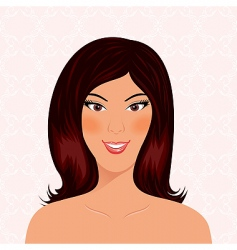 Portrait beautiful smiling girl isolated vector