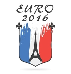 Poster or emblem for euro 2016 vector