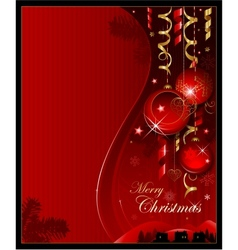 red christmas decoration background vector image