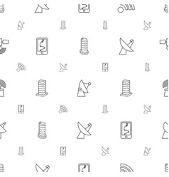 satellite icons pattern seamless white background vector image