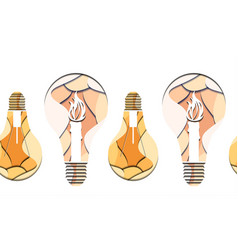 seamless pattern of 3d of light bulb vector image