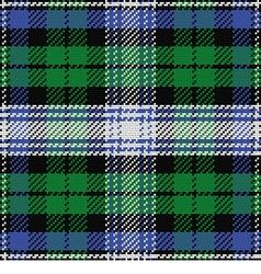 seamless pattern Scottish tartan Black Watch vector image