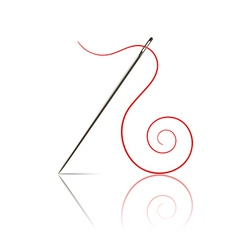 sewing needle vector image