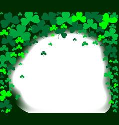shamrock clover background vector image