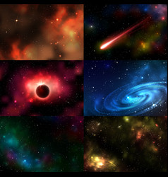 starry outer galaxy cosmic space vector image