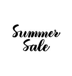 Summer sale handwritten lettering vector