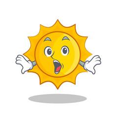 Surprised cute sun character cartoon vector