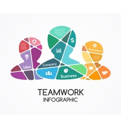 Teamwork infographic Template for a partnership vector