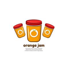 Template logo for orange jam vector