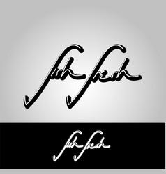 text fish fresh vector image