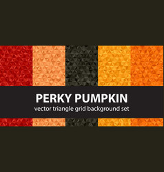 Triangle pattern set perky pumpkin seamless vector