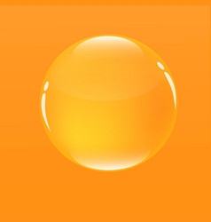 Water bubble in orange color background vector