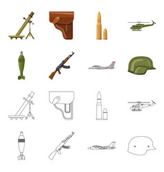 Weapon and gun symbol vector