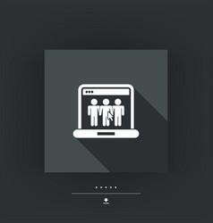 web social icon vector image