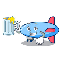 with juice zeppelin mascot cartoon style vector image