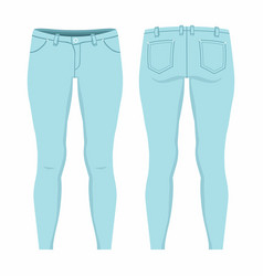 womens light blue jeans vector image