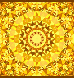 Yellow abstract repeating triangle mosaic tile vector