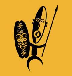 african warrior vector image