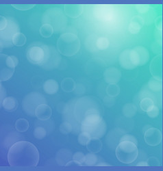 bokeh texture on a two-tone blue-green background vector image vector image