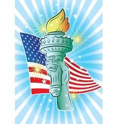 hand of liberty vector image vector image