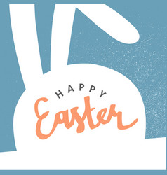 happy easter greeting card easter bunny pastel vector image vector image