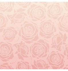 Rose romantic pattern vector image