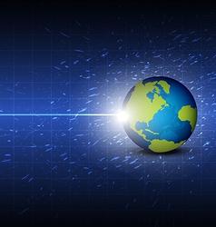 future digital global technology background vector image