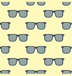 glasses seamless pattern vector image vector image