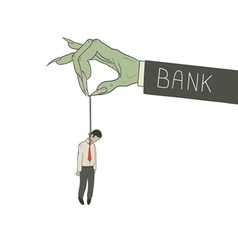 hanged by bank vector image