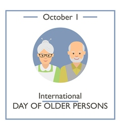 International Day of Older Persons vector image vector image