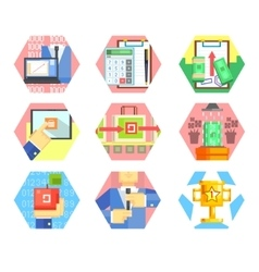 Business Office and Marketing Icons Set vector image vector image