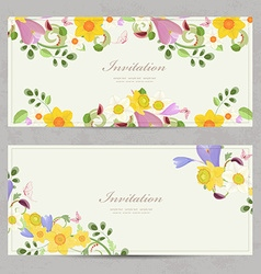 collection banners with border of spring flowers vector image vector image