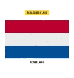 Dutch grunge flag with little scratches on surface vector image