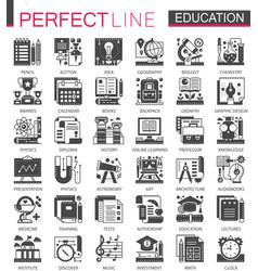 education classic black mini concept symbols vector image vector image